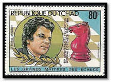 tchad 1983 80 F surcharge rouge